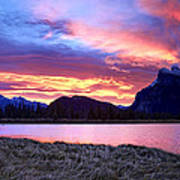 Banff Sunrise Six Minutes Later Art Print