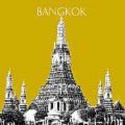 Bangkok Thailand Skyline Wat Arun - Gold Art Print