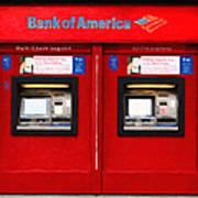 Bank Of America Automated Teller Machine - Painterly - 5d20737 Art Print