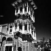 Bank Of America Building And Tower In Downtown Celebration Florida Usa Art Print
