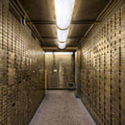 Bank Safe Deposit Boxes Art Print