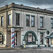 Bank To Barbershop Art Print by MJ Olsen