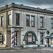 Bank To Barbershop Art Print