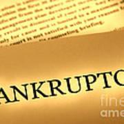 Bankruptcy Notice Art Print