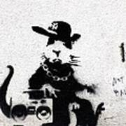Banksy Boombox  Art Print
