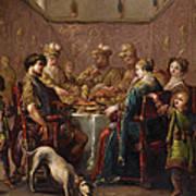Banquet Scene Art Print