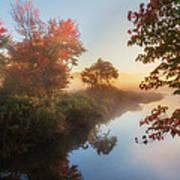 Bantam River Sunrise Art Print by Bill Wakeley