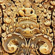 Banteay Srei Carving 01 Art Print