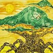 Banyan And Two Suns Art Print