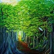 Banyan Walk Art Print