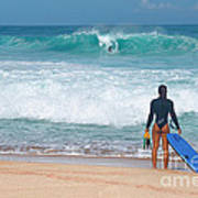 Banzai Pipeline Aqua Dream Art Print