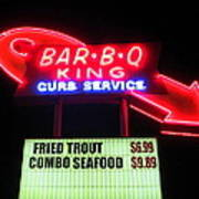 Bar B Q King In Charlotte N C Art Print by Randall Weidner