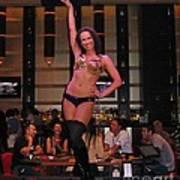 Bar Top Dancer In Las Vegas Art Print