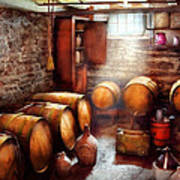 Bar - Wine - The Wine Cellar  Art Print by Mike Savad