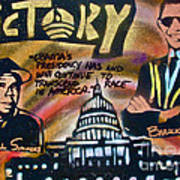 Barack And Russell Simmons Art Print by Tony B Conscious