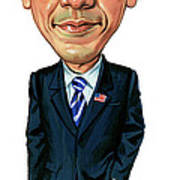 Barack Obama Print by Art