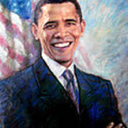 Barack Obama Art Print by Viola El