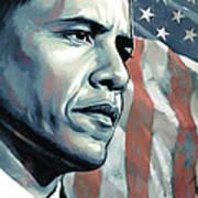 Barack Obama Artwork 2 B Art Print by Sheraz A