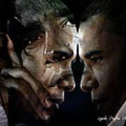 Barack Obama -  Art Print by Lynda Payton