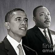 Barack Obama  M L King  Art Print