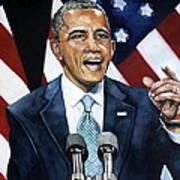 Barack Obama  Art Print by Michael  Pattison