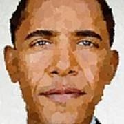 Barack Obama Art Print by Samuel Majcen