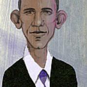 Barack Obama Print by Steve Dininno