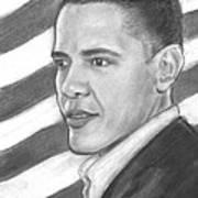 Barack Print by Sue Carmicle