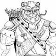 Baragh The Warrior Art Print