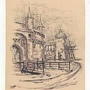 Barbakan Cracow Art Print