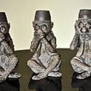 Barbary Macaques Monkeys Art Print