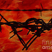 Barbed Wire Love Series  Rage Art Print