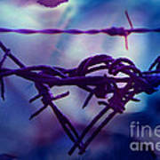 Barbed Wire Love Series The Blues 2 Art Print