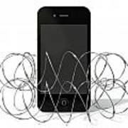 Barbed Wire Protected Smartphone Art Print by Allan Swart