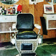 Barber - Barber Chair Front View Art Print