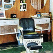 Barber - Barber Shop One Chair Art Print by Susan Savad