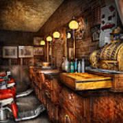Barber - Closed On Sundays Print by Mike Savad