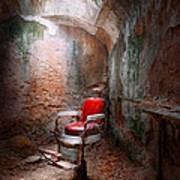 Barber - Eastern State Penitentiary - Remembering My Last Haircut  Print by Mike Savad