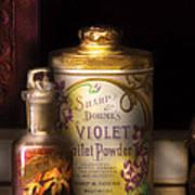 Barber -  Sharp And Dohmes Violet Toilet Powder  Art Print