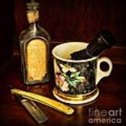 Barber - Shaving Mug And Toilet Water Art Print