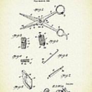 Barber Shears Patent 1927 Art Print