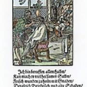 Barber-surgeon, 1568 Art Print