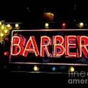 Barber This Way Art Print