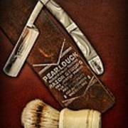 Barber - Tools For A Close Shave  Art Print
