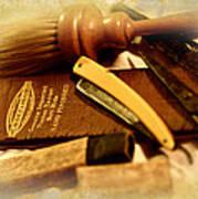 Barber Tools Art Print