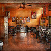 Barber - Union Nj - The Modern Salon  Print by Mike Savad