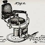 Barbershop Chair Patent Art Print