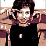Barbra Streisand - Brown Pop Art Art Print