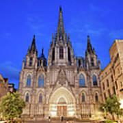 Barcelona Cathedral At Night Art Print