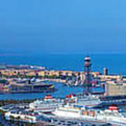 Barcelona Panorama Art Print